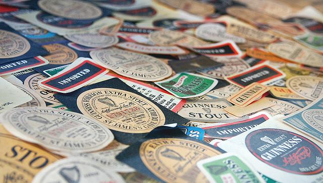 Etiquetas de cerveza irlandesa